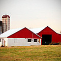 Red And White Barn by Cynthia Guinn