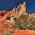 Red And White Desert Towers by Adam Jewell
