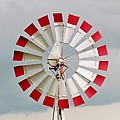 Red And White Windmill by Cynthia Guinn