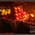 Red And Yellow Apples In Baskets by Miriam Danar