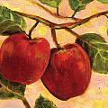 Red Apples On A Branch by Jen Norton