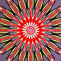 Red Arrow Abstract by Barbara Snyder