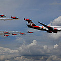 Red Arrows And Lady Penelope by Mark Rogan