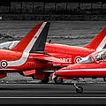 Red Arrows Threesome Take-off by Gareth Burge Photography