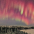 Red Aurora Panorama 1 Feb 12, 2016 by Alan Dyer