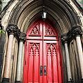 Red Baltimore Door by Debbie Duggar