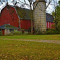 Red Barn And Silo#2 by Richard Jenkins