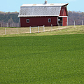 Red Barn In Greener Pastures by Dan Carmichael