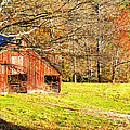 Red Barn In Late Fall by Duane McCullough
