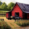 Red Barn In Leiper's Fork Tennessee by Janet King
