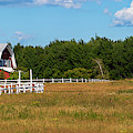 Red Barn In Meadow, Knowlton, Quebec by Panoramic Images