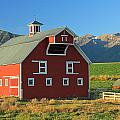 Dn5939-red Barn In The Wallowas by Ed  Cooper Photography