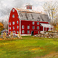 Red Barn In Woodstock Vermont- Red Barn Art by Lourry Legarde
