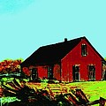 Red Barn   Number 5 by Diane Strain