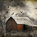 The Old Red Barn by Gothicrow Images
