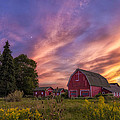 Red Barn Sunset 2 by Mark Papke