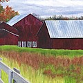 Red Barns At Freehold by Deborah Butts