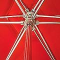 Red Beach Umbrella by Allen Meyer