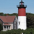 Red Beacon On Nauset Light by Barbara McDevitt
