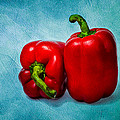Red Bell Peppers by Alexander Senin