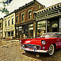 Red Bird On Main Street by John Anderson