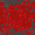 Red Black White Expressions Scramble  Black Red by Sirron Kyles
