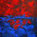 Red Blue Abstract Make It Happen By Chakramoon by Belinda Capol