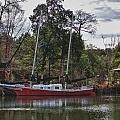 Red Boat Closeup by Michael Thomas