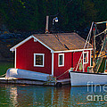 Red Boat House by Jerry Fornarotto