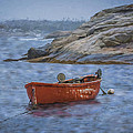 Red Boat In Peggy's Cove by James Gamble
