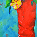 Red Boot With Flowers by Patricia Awapara
