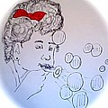 Red Bow And Bubbles by Carmen  Jackson