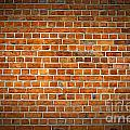 Red Brick Wall Texture With Vignette by Antony McAulay