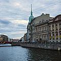 Red Bridge - St. Petersburg - Russia by Madeline Ellis