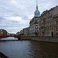 Red Bridge View - St. Petersburg - Russia by Madeline Ellis