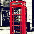 Red British Telephone Booth by Joan McCool