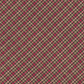 Red Brown And Green Diagonal Plaid Pattern Fabric Background by Keith Webber Jr