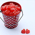 Red Bucket Of Hearts by Diana Haronis
