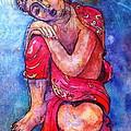 Red Buddha Resting by Gloria Avner