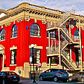 Red Building On Water Street In Saint John's-nl by Ruth Hager