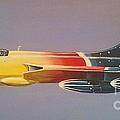 Red Bull Hawker Hunter Miss Demeanour by Richard John Holden RA