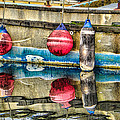 Red Buoy Reflections Of Alaska by Steven Bateson