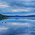 Red Buoys On Loch Rannoch by Chris Thaxter
