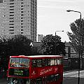 Red Bus by Helene U Taylor