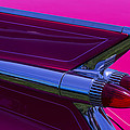 Red Caddy Tail Lights by Garry Gay