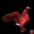 Red Canada Goose Pop Art - 7585 - Bb  by James Ahn