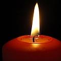 Red Candle Burning by Matthias Hauser