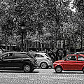 Red Car In Paris by Nigel R Bell