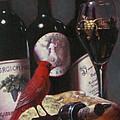 Red Cardinal With Red Wine 2 by Takayuki Harada