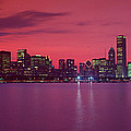 Red Chicago Sunset by Panoramic Images
